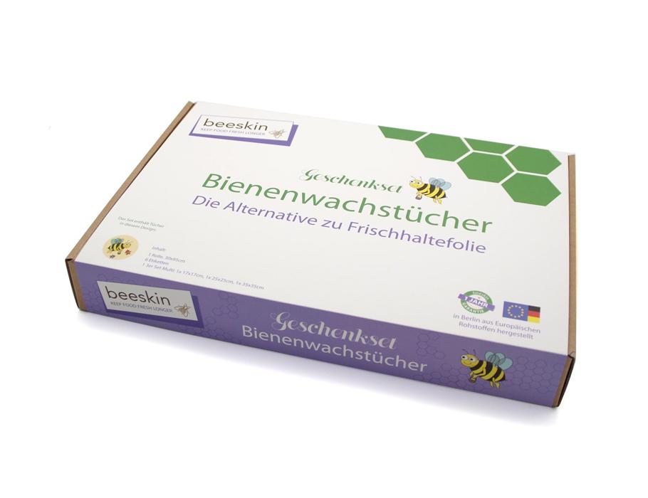Beeskin - Geschenkset mit Bienenwachstuch
