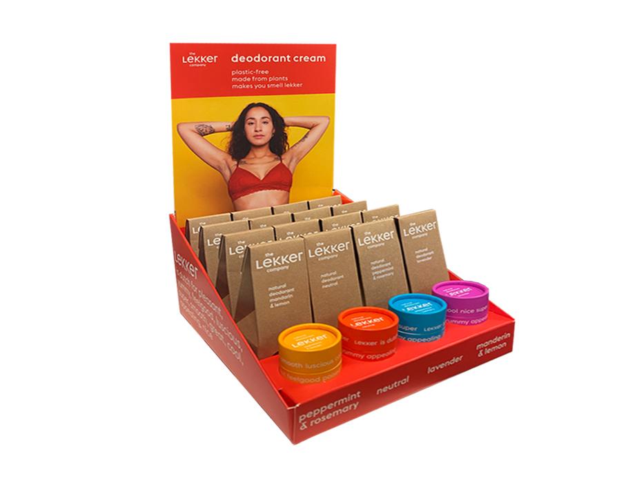 Deodorant display - Inclusief 16 deo's en 4 testers