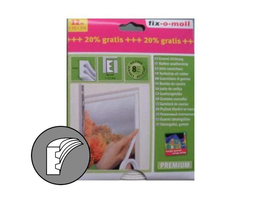 Tochtband 9 mm bruin -12m E profiel