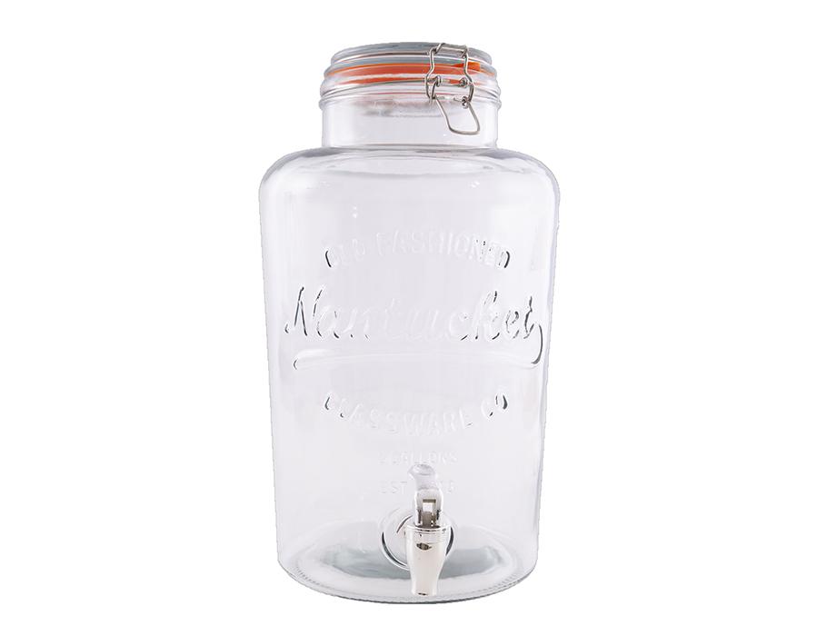 Glazen pot met kraantje 8L