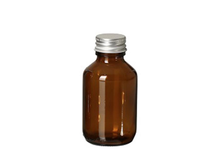 Glazen fles met dop - leeg - 100 ml
