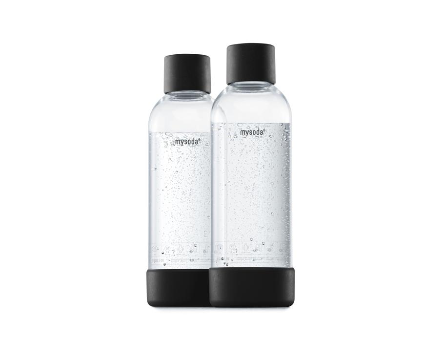 Literflaschen für Soda Maker - 2 Stück - Black