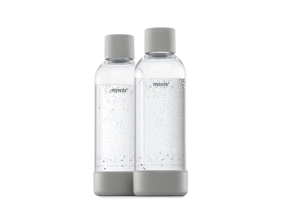 Literflessen voor soda maker - 2 stuks - Grey