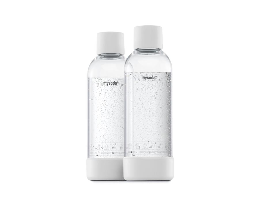 Literflessen voor soda maker - 2 stuks - White