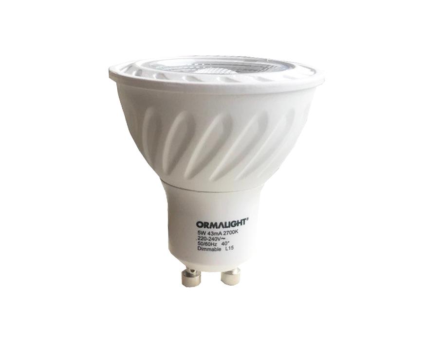 Ledlamp - E27 - GU10 - 5W - 420L dimbaar