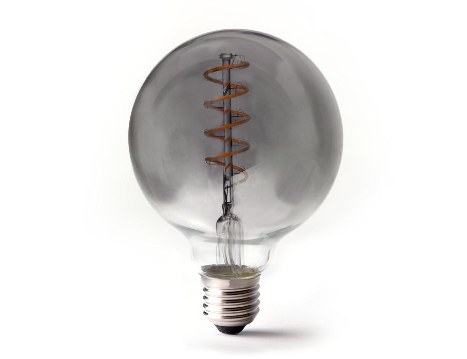 Led-Lampe - E27 - 350 Lumen - Große Kugel - Smoked - 4W - 2200K