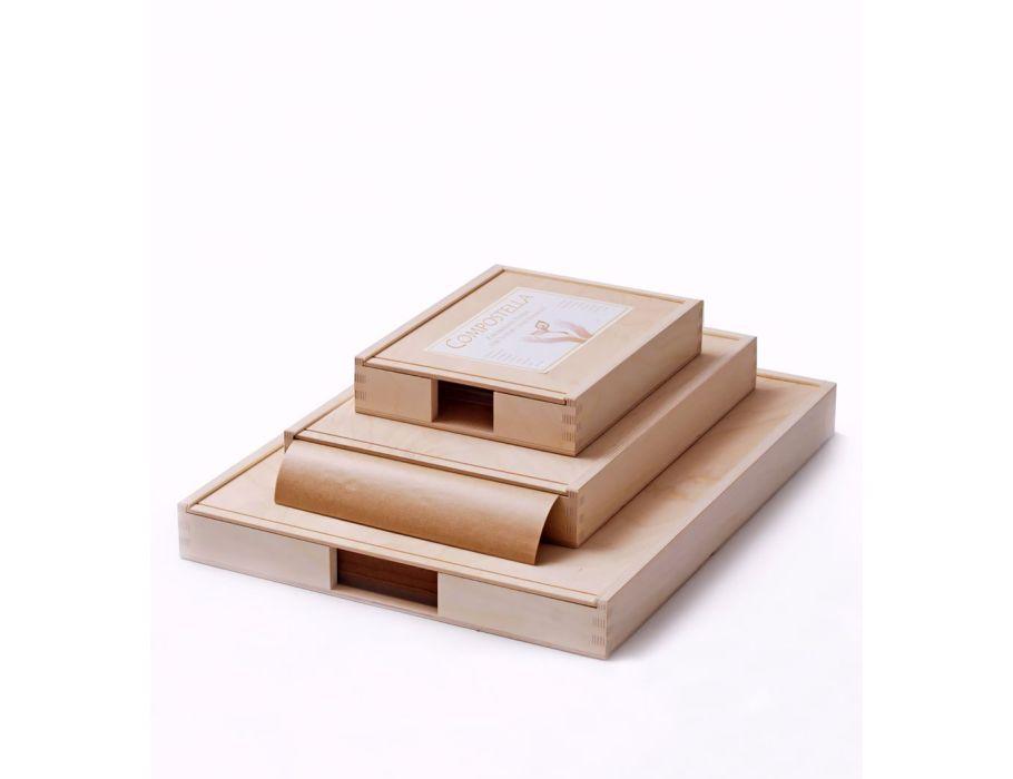 Delicatessen papier in houten doos 375 mm x 500mm - 1000st
