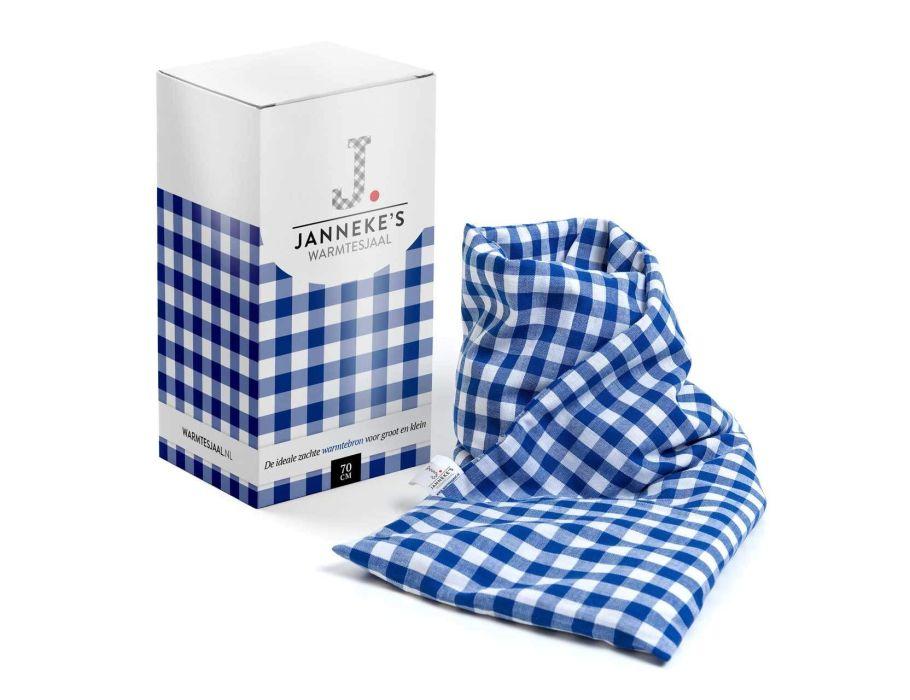 Jannekes warmtesjaal - Blauw