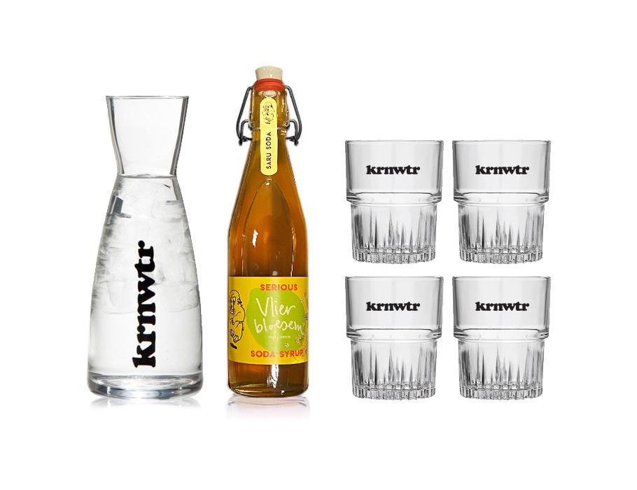 Krwtr Geschenkset - Karaffe + Sirup + 4 Gläser