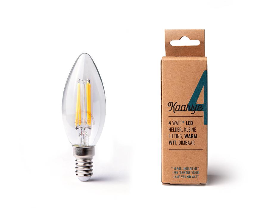 Led-Lampe - E27 - 350 Lumen - Kerz - C35 - 4W - 2200K