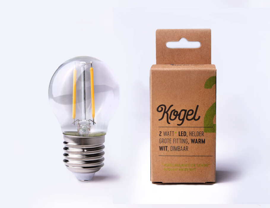 Led-Lampe - E27 - 200 Lumen - Kugel - G45 - 2W - 2700K