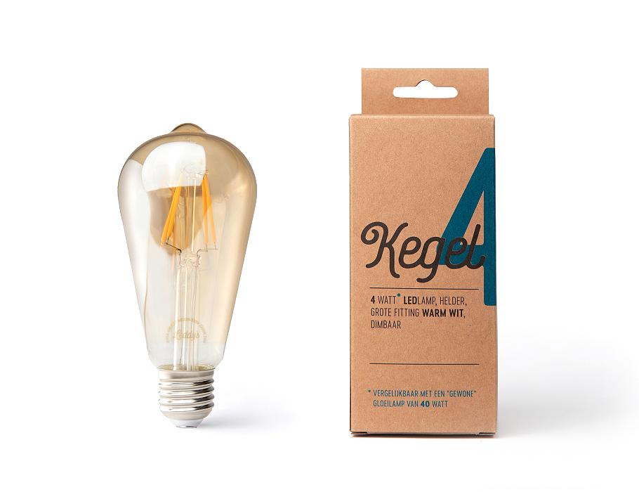 Led-Lampe - E27 - 350 Lumen - Kegel - ST64 - 4W - 2200K