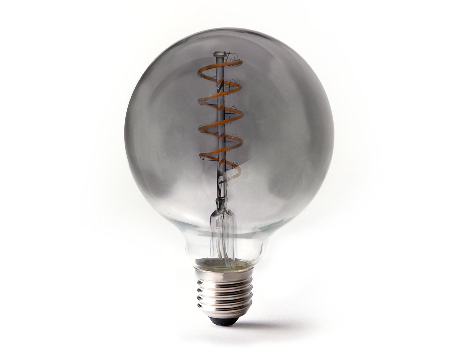 Led-Lampe - E27 - 350 Lumen - Kleine Kugel - G95 - Smoked - 4W - 2200K