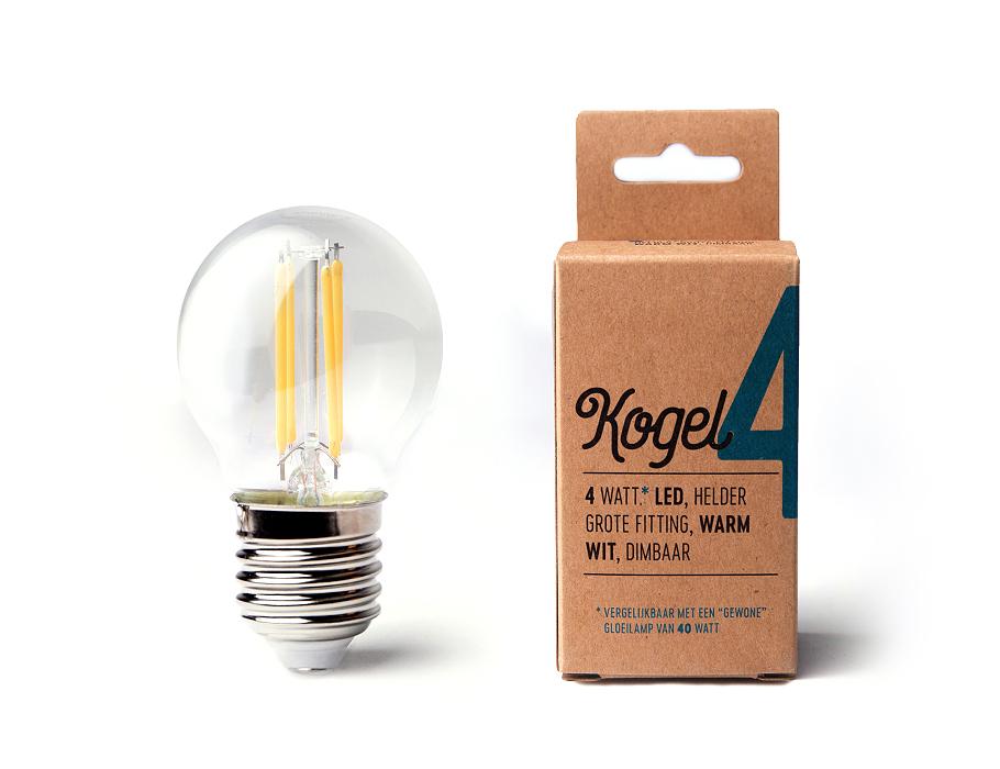 Led-Lampe - E27 - 360 Lumen - Kugel - G45 - 4W - 2700K