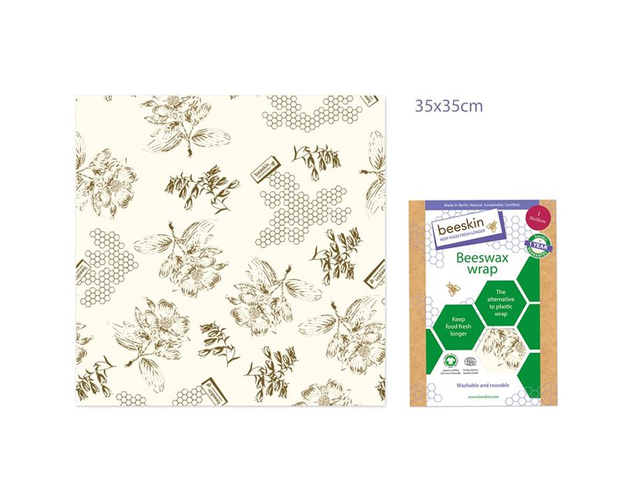 Bijenwasdoek Large - 35x35 - Flower print