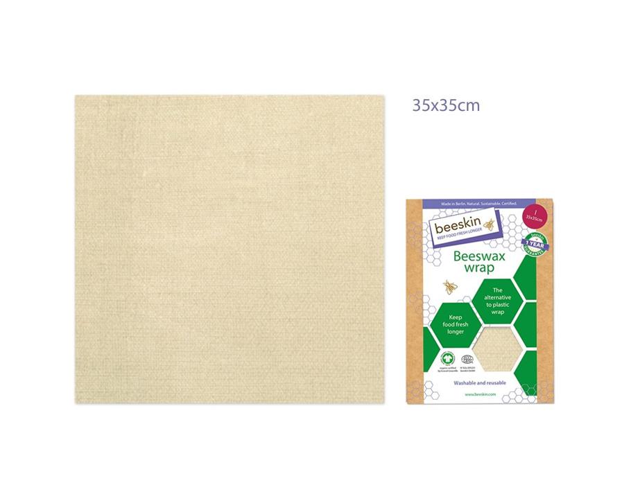Bijenwasdoek Large - 35x35 - Natural print