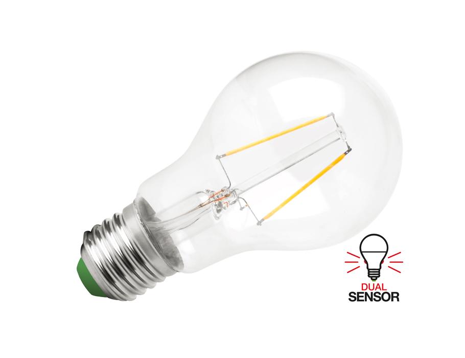 Ledlamp - E27 - 470 lm - Dag en Nacht sensor - Bol - Helder