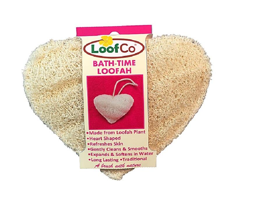 Bad en douche spons hartvormig Loofco