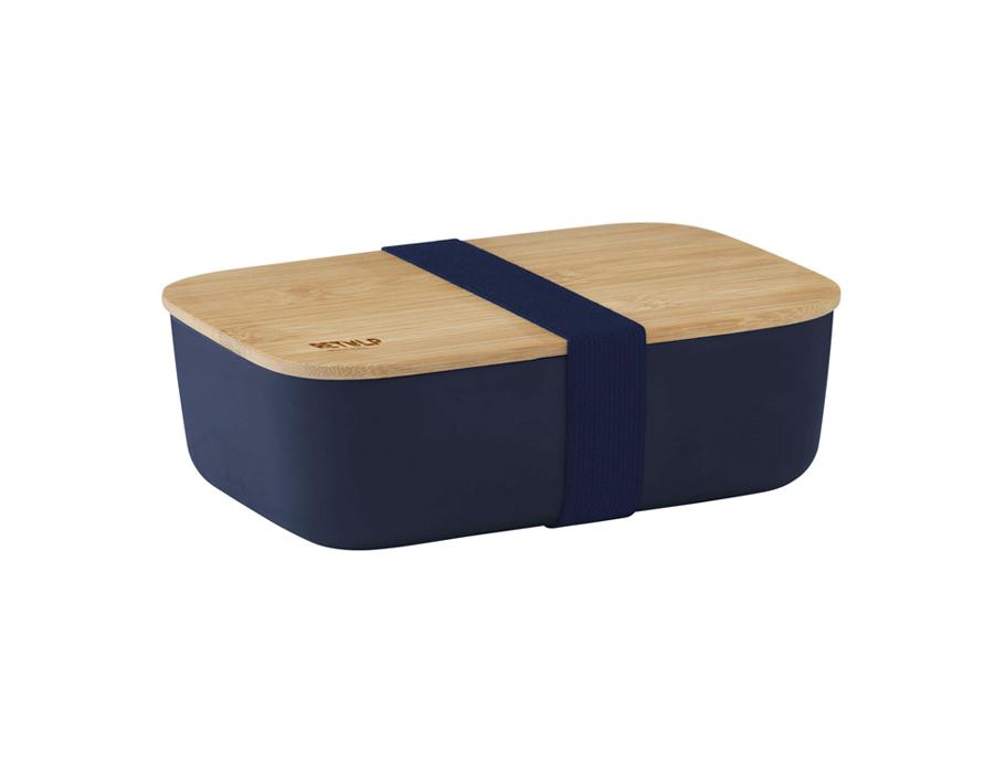 Eco Lunchbox - Mit Bambusdeckel - Blau