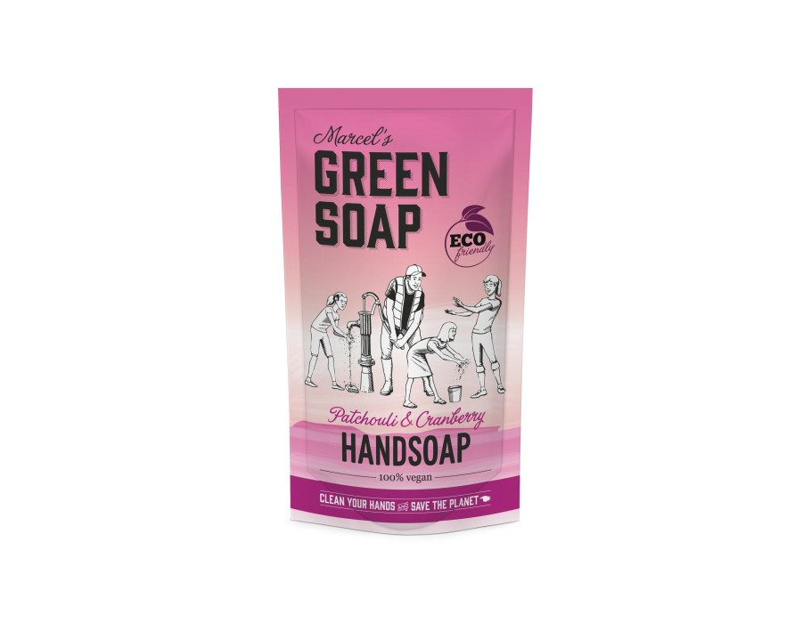 Handzeep Patchouli & Cranberry 500ml navulzak