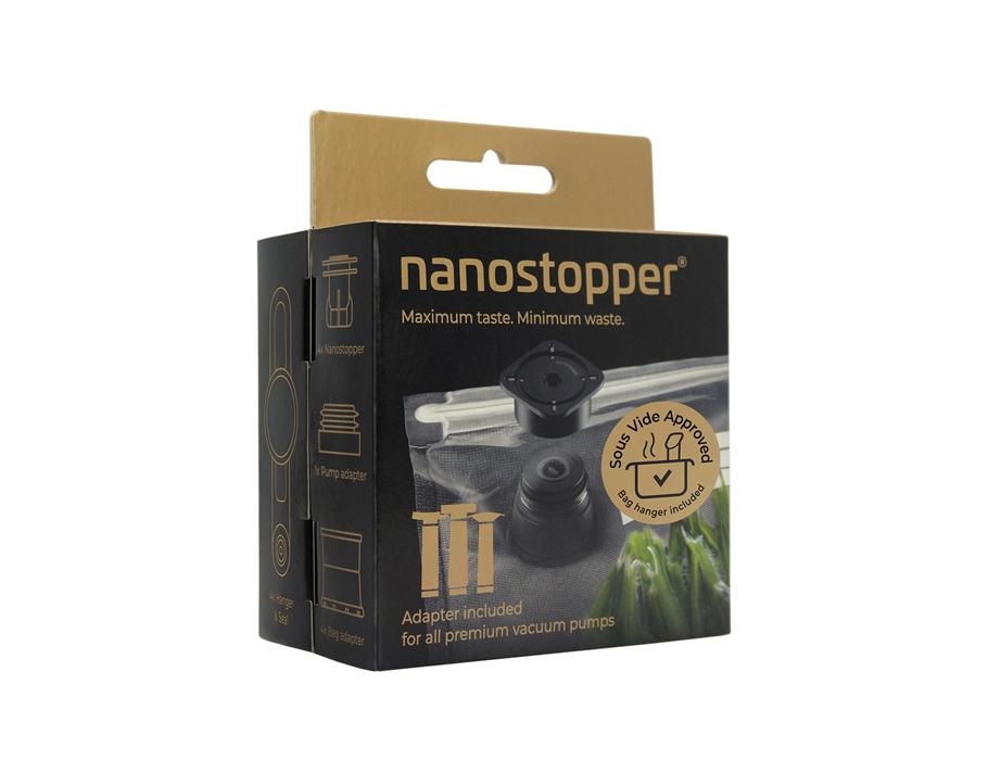Nanostopper - Voor vacuum trekken van zakjes + pomp