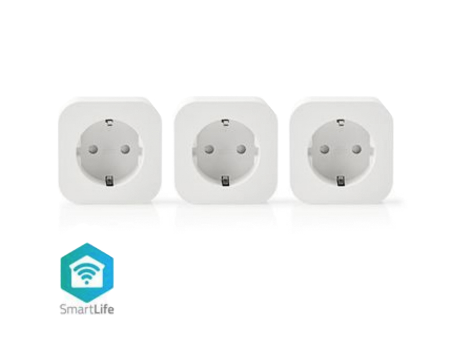 Smart wifi stekker - 2500W - Set van 3