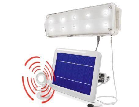 Solar binnenlamp - 10 leds 2 standen incl. PIR