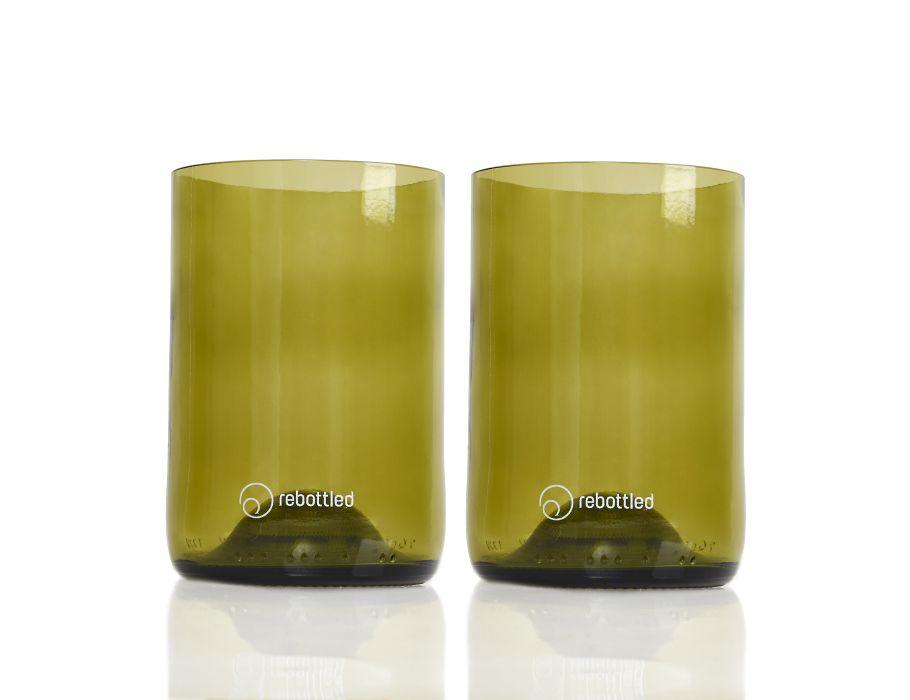 Rebottled Glazen - 2-pack - amber