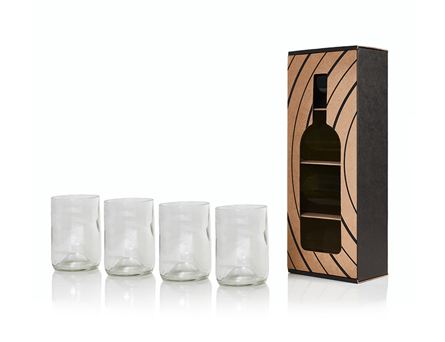 Rebottled Gläser - 4-pack - Klar