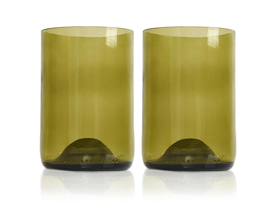 Rebottled Gläser - 2-pack - Bernsteinfarben