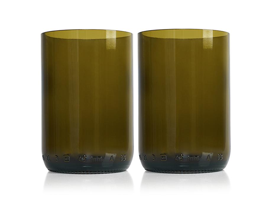 Rebottled Glazen - 2-pack - brown