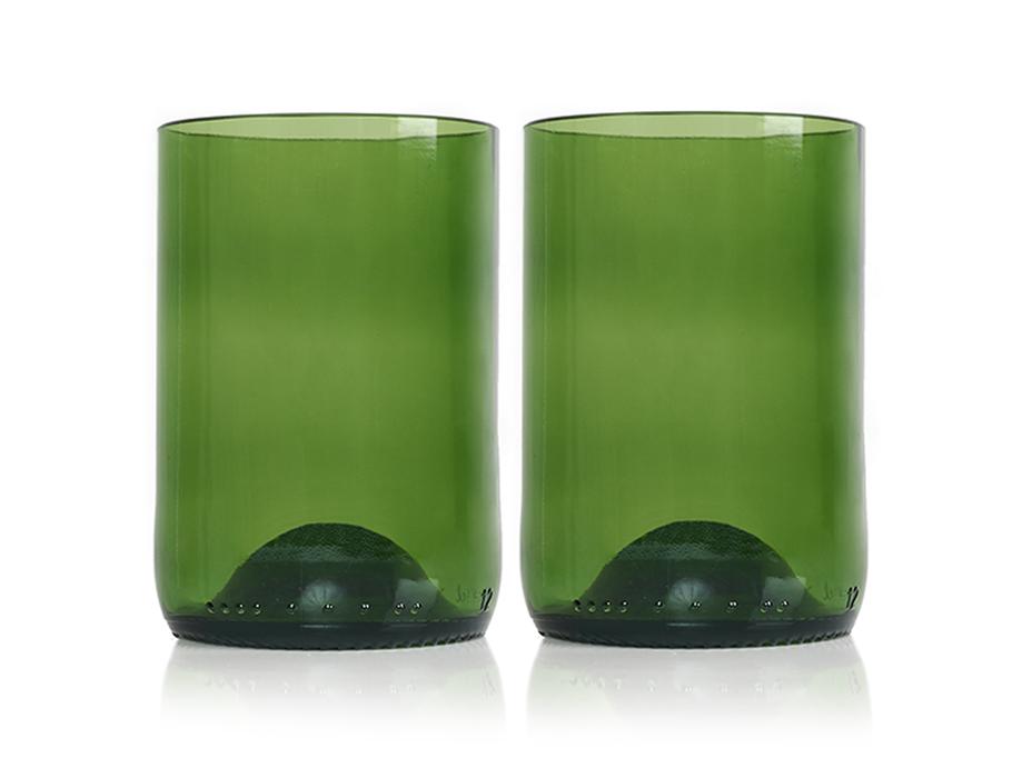 Rebottled Glazen - 2-pack - green