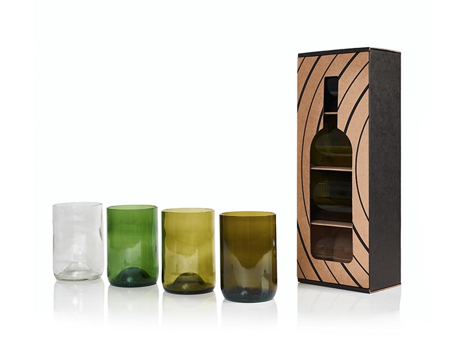 Rebottled Gläser - 4-pack - Farben mix