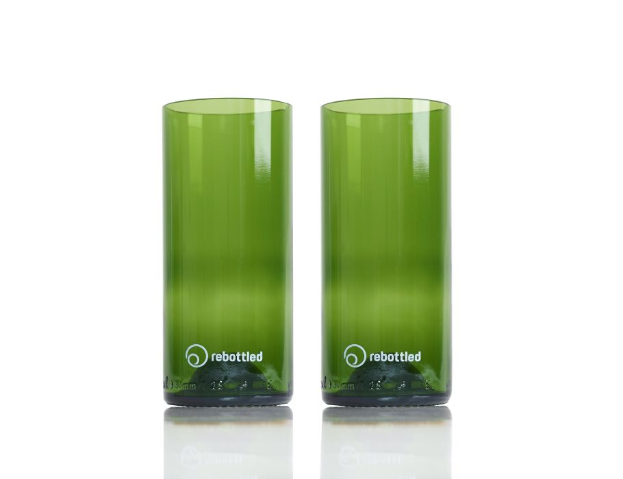 Rebottled Glazen - 2-pack - green - longdrink
