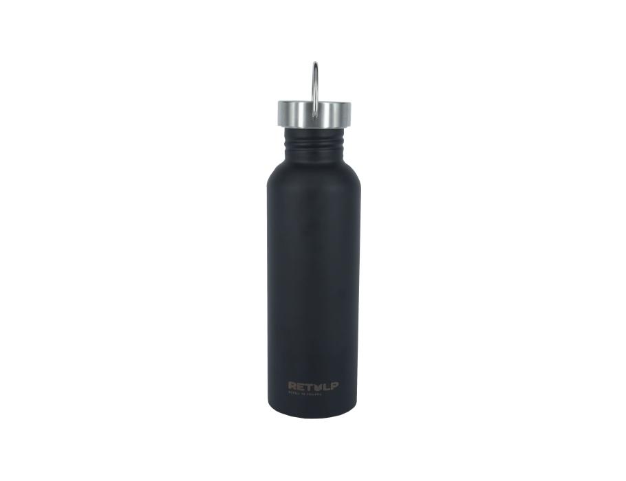 Urban Waterfles - Night Black - RVS dop - 750ml Aanbieding