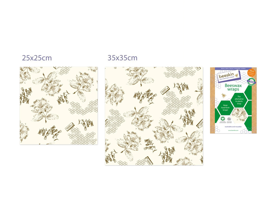 Bijenwasdoeken Set - Medium en Large - Flower print