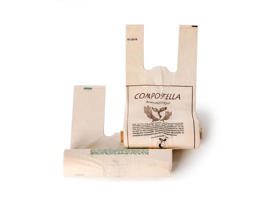 Boodschappentasjes bioplastic 24L - 100 stuks op rol