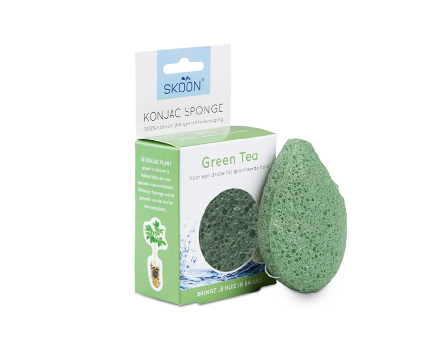 Konjac spons - Green tea