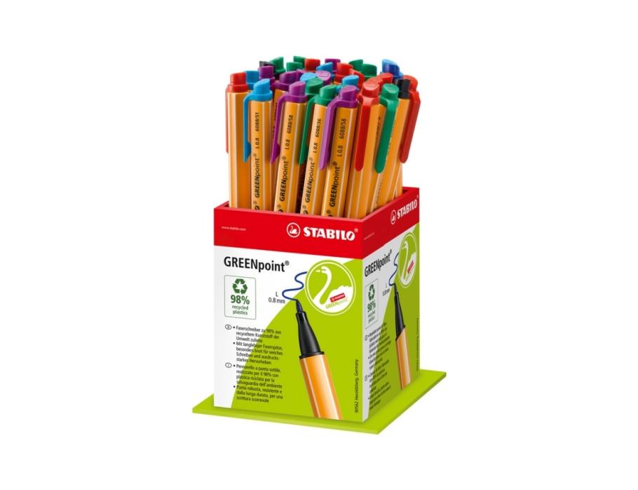 Viltstiften - Greenpoint - 40 stuks in 6 kleuren