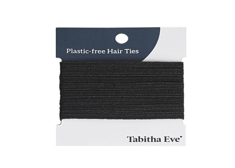 Kunststofffreie Haargummis 8 Stück - schwarz