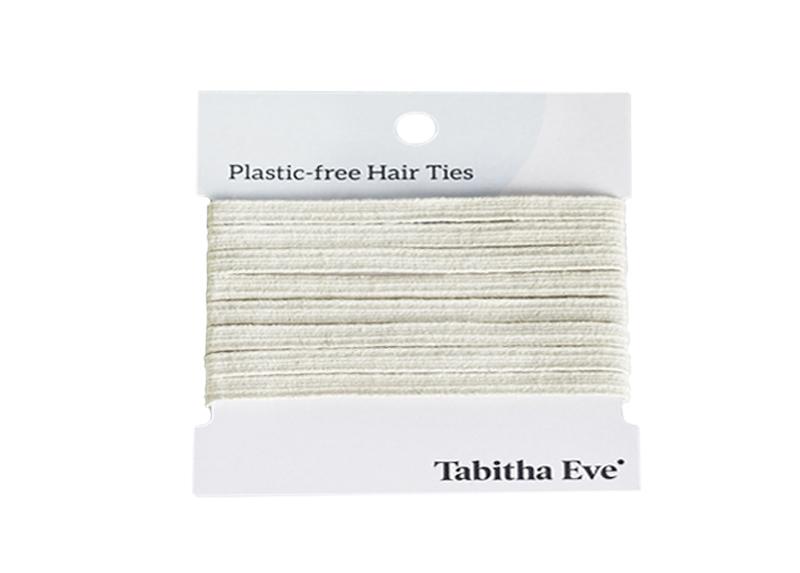 Kunststofffreie Haargummis 8 Stück - creme