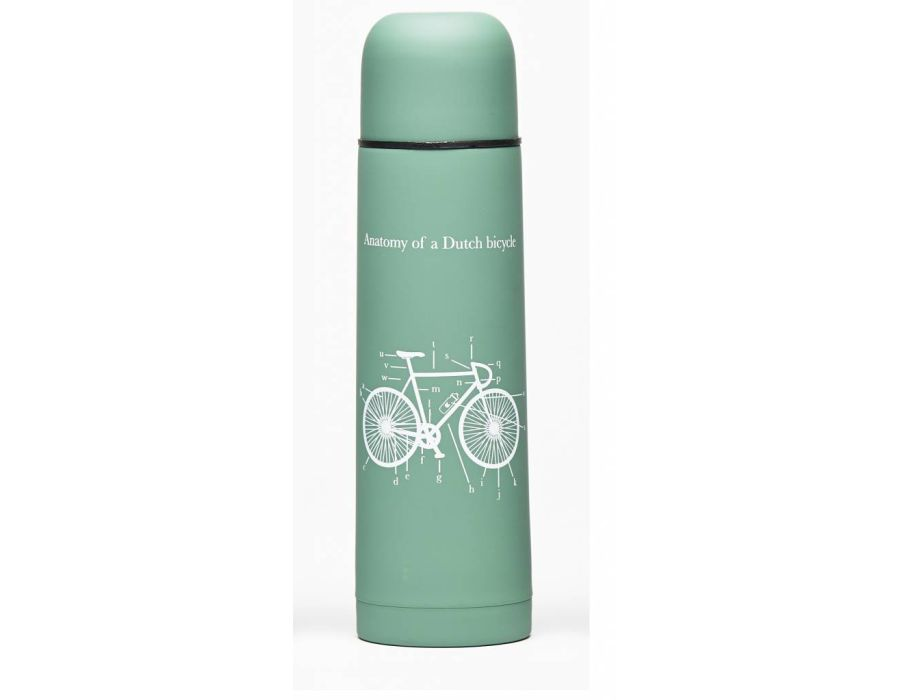 Thermosfles met beker groen - fiets - 500ml