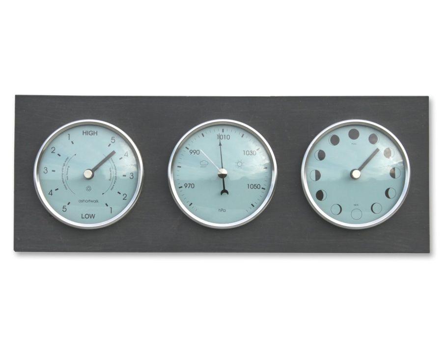 Klok voor Maan- getij- en barometerstand