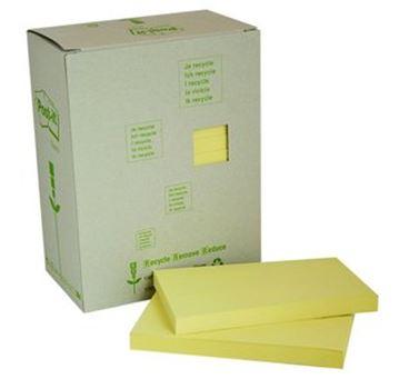 Memoblokjes - 76x127 - 16st - geel