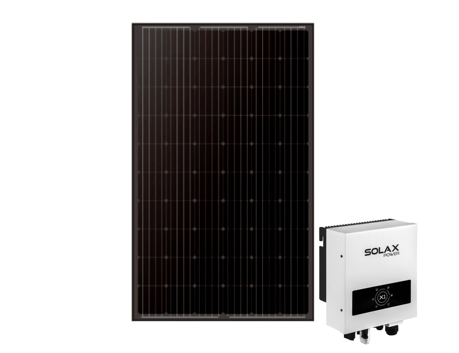 Zwarte mono zonnepanelen - 4 stuks - 1160wp