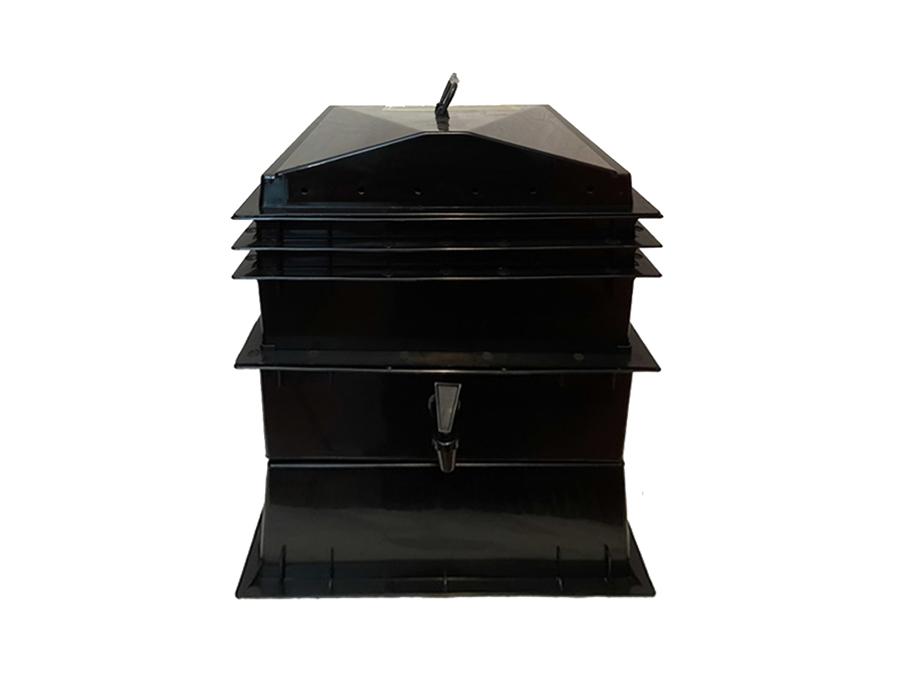 Wurmkammer - 2 Stockwerke - inkl. Hanfmatte und Lavagranulat
