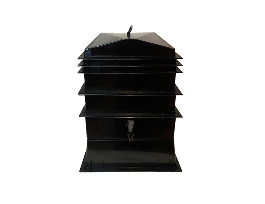 Wurmkammer - 3 Stockwerke - inkl. Hanfmatte und Lavagranulat