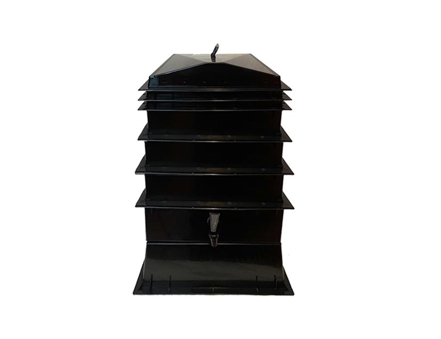 Wurmkammer - 4 Stockwerke - inkl. Hanfmatte und Lavagranulat