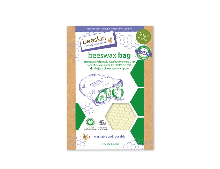 Bijenwas lunchbag Small - Standard print