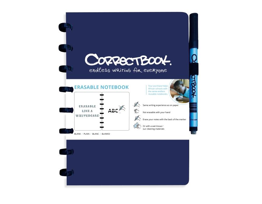 Correctbook Notitieboek A5 blauw- blanco